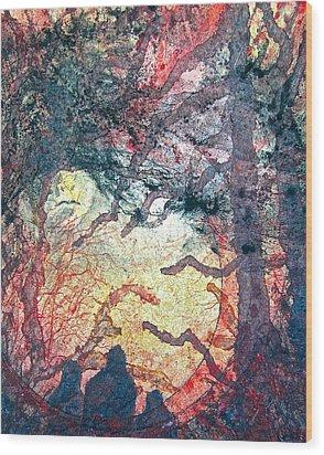 Behind Tomorrow's Memories Wood Print by Carolyn Rosenberger