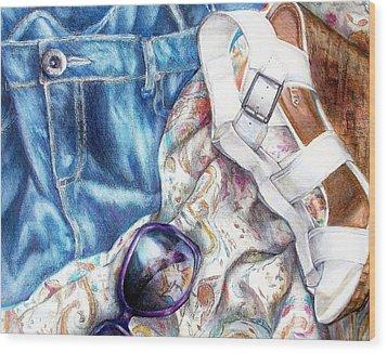 Being A Girl Wood Print by Shana Rowe Jackson