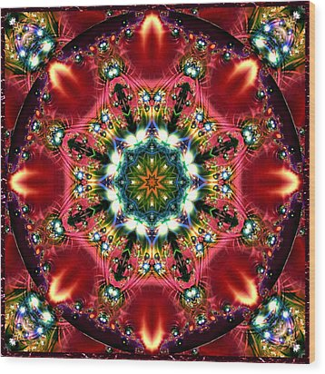 Bejewelled Mandala No 2 Wood Print