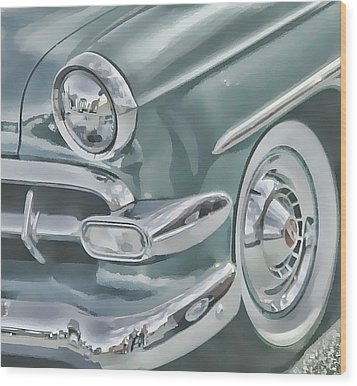 Bel Air Headlight Wood Print by Victor Montgomery