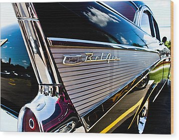 Wood Print featuring the photograph Bel Air Reflections by Joann Copeland-Paul