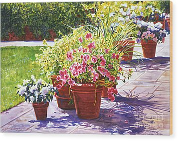Bel-air Welcome Garden Wood Print by David Lloyd Glover