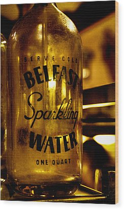 Belfast Sparkling Water Wood Print by David Patterson