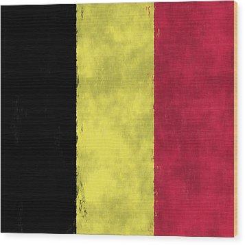 Belgium Flag Wood Print by World Art Prints And Designs