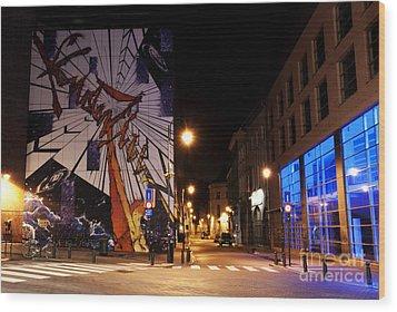 Belgium Street Art Wood Print by Juli Scalzi