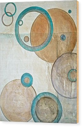Belief In Circles Wood Print by Debi Starr
