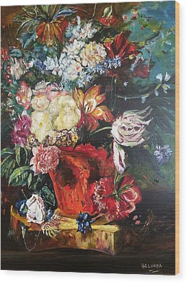 Life Is A Bouquet Of Flowers  Wood Print