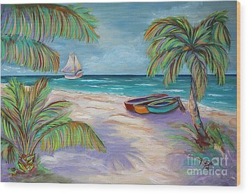 Belize Beach Wood Print