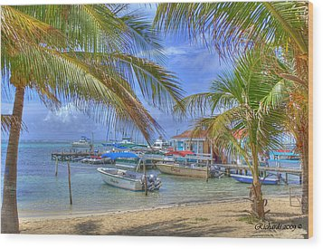 Belize Hdr Wood Print