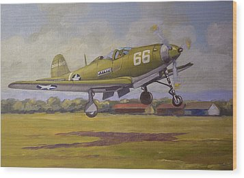 Wood Print featuring the painting Bell Airacobra by Murray McLeod