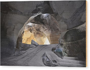 Bell Caves Wood Print