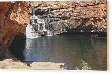 Wood Print featuring the photograph Bell Falls by Tony Mathews