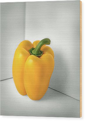 Bell Pepper Wood Print by Krasimir Tolev