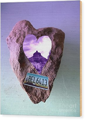 Bell Rock 6413 Serendipity Wood Print by Marlene Rose Besso