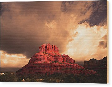 Bell Rock Wood Print by Tom Kelly