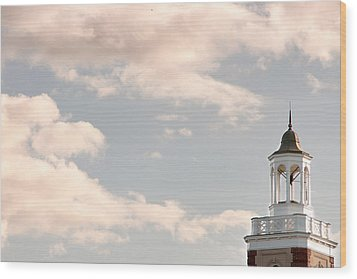 Bell Tower Wood Print by Courtney Webster