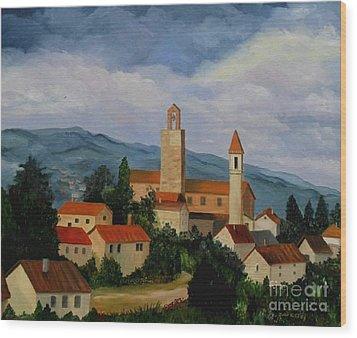 Bell Tower Of Vinci Wood Print by Julie Brugh Riffey