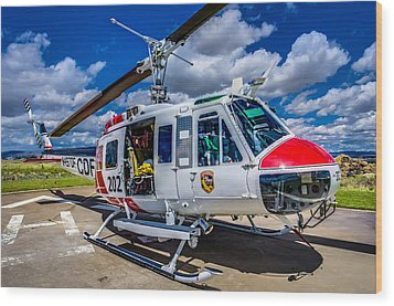 Bell Uh-1super Huey Close-up Wood Print by Scott McGuire
