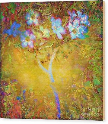 Bella Flora-tropicala Wood Print