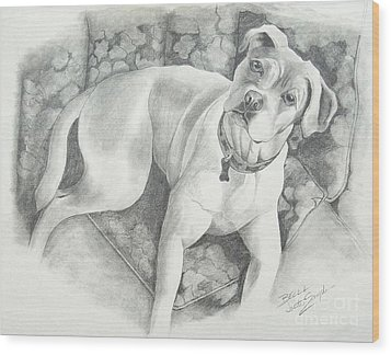 Bella My Pup Wood Print