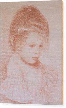 Bella Principessa Wood Print by Deborah Dendler