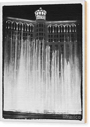 Bellagio Fountains I Wood Print by John Rizzuto