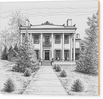 Belle Meade Plantation Wood Print by Janet King