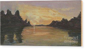 Belle River II Wood Print