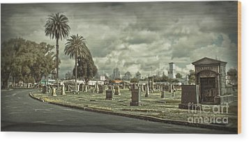 Bellevue Cemetery Crypt - 02 Wood Print by Gregory Dyer