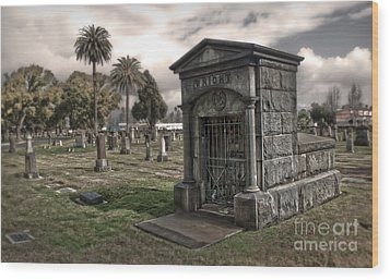 Bellevue Cemetery Wood Print by Gregory Dyer