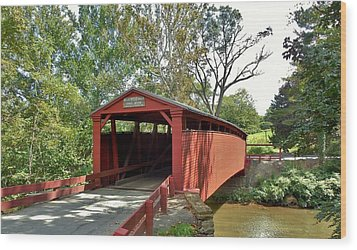 Bells Mills Covered Bridge Wood Print