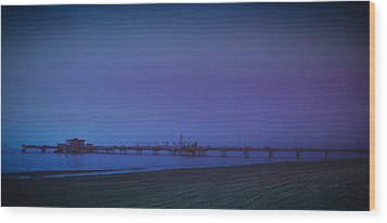 Wood Print featuring the photograph Belmont Pier by Joseph Hollingsworth