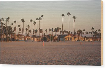 Belmont Shore Sunset Wood Print by Mark Barclay