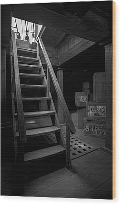 Below Deck - Charles W Morgan Whaling Ship Wood Print by Gary Heller
