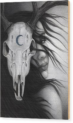 Wood Print featuring the painting Beltane by Pat Erickson