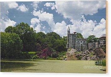Belvedere Castle Turtle Pond Central Park Wood Print by Amy Cicconi