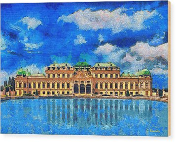 Belvedere Palace Wood Print by George Rossidis