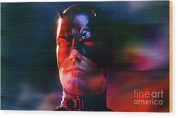 Ben Affleck Daredevil Wood Print by Marvin Blaine