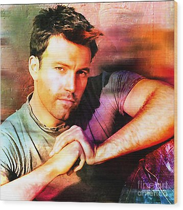 Ben Affleck Wood Print by Marvin Blaine