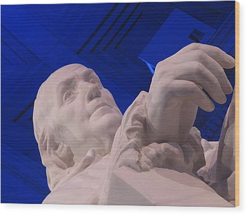 Wood Print featuring the photograph Ben Franklin In Blue I by Richard Reeve