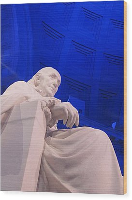 Wood Print featuring the photograph Ben Franklin In Blue II by Richard Reeve