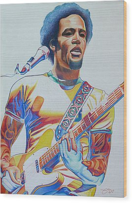 Ben Harper Wood Print by Joshua Morton