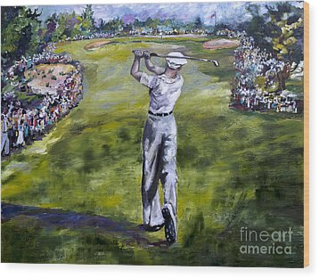 Ben Hogan Golf Painting Wood Print