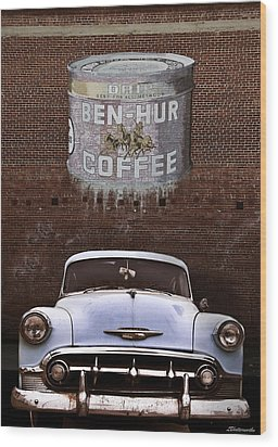 Ben Hur Coffee Wood Print by Larry Butterworth