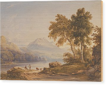 Ben Vorlich And Loch Lomond Wood Print by Anthony Vandyke Copley Fielding