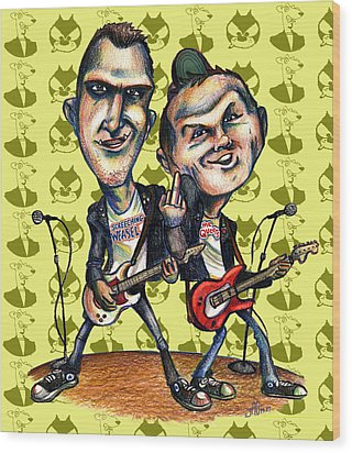 Ben Weasel And Joe Queer Wood Print by John Ashton Golden