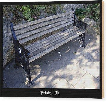 Bench 12 Wood Print by Roberto Alamino