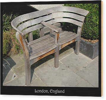 Bench 14 Wood Print by Roberto Alamino