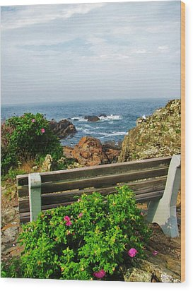 Marginal Way Wood Print by Diane Valliere