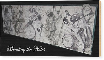 Bending The Notes Wood Print by Cathy Long